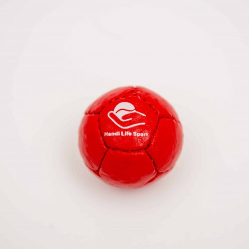 Single-small-red-petanque-target-ball