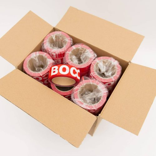 Red/white-boccia-tape-38-mm-box-with-48-rolls